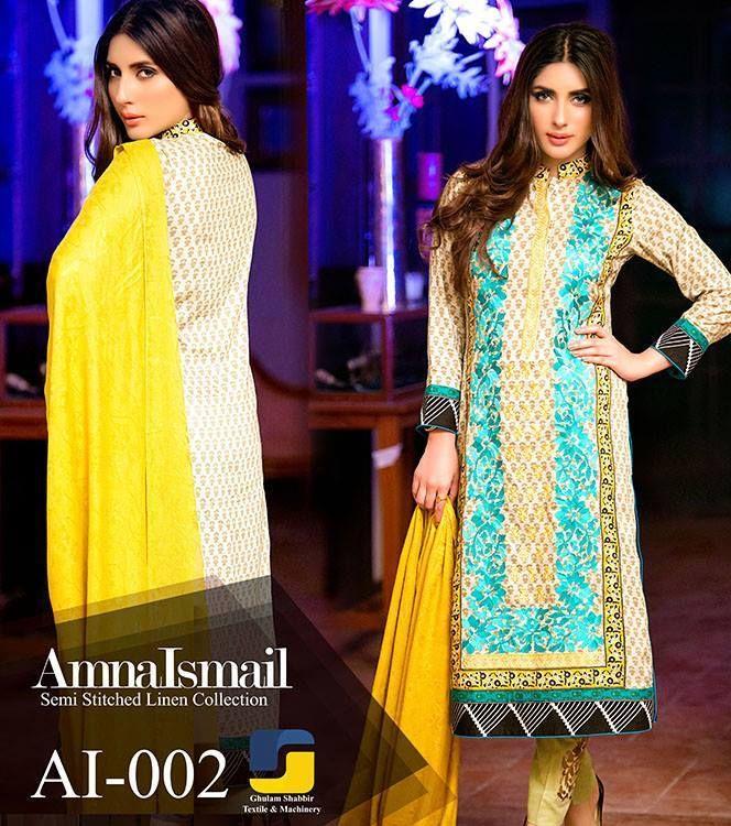 Women Winter Dresses Amna Ismail 2015