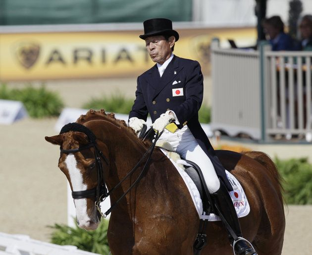 Japanese equestrian (71) defies Father Time as the oldest competitor at London Olympics - Yahoo! Sports