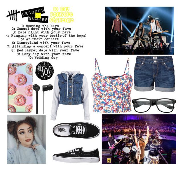 """""""10 day challenge : 5SOS"""" by mckayequeenboss ❤ liked on Polyvore featuring Vero Moda, ZeroUV and Vans"""