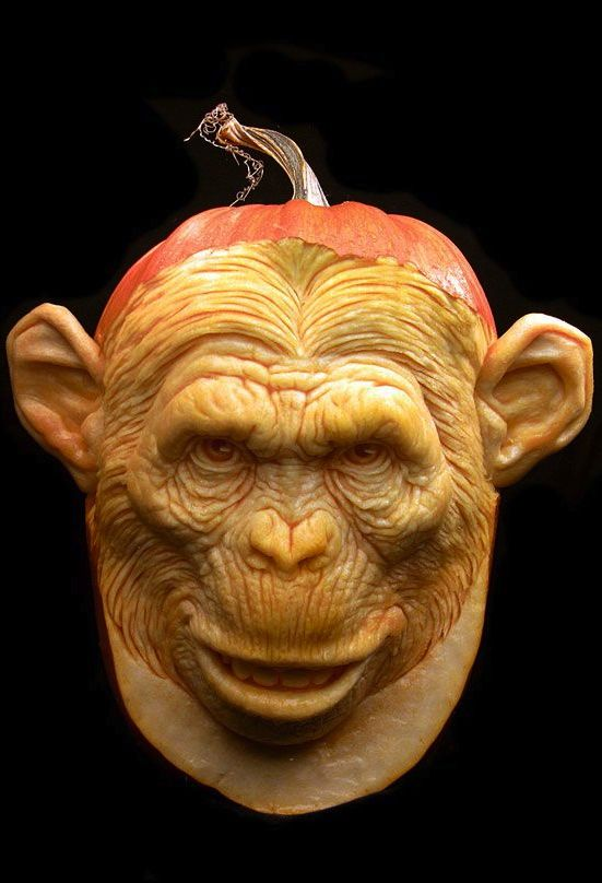 ☆ Monkey Pumpkin Carving :¦: By Artist Ray Villafane ☆