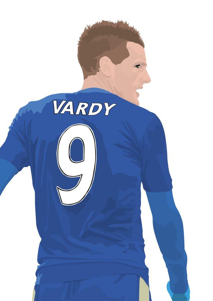 Jamie Vardy A3 cartel: azul de ciudad de Leicester por EntireDesign