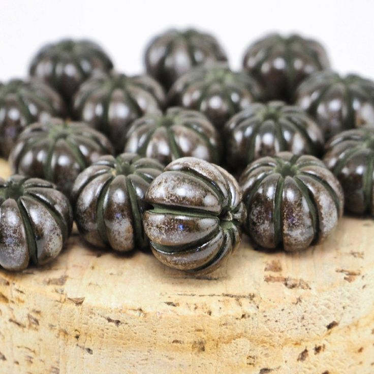 Gorgeous aged beads for your future necklace 😋 #Etsy #etsystudio #ceramicbeads #beads #pottery #jewelry