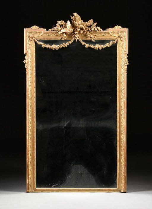 Lot: A FRENCH LOUIS XVI STYLE GILTWOOD AND GESSO MIRROR,, Lot Number: 0145, Starting Bid: $400, Auctioneer: Simpson Galleries, LLC., Auction: Fine Art & Antiques Session I, Date: October 14th, 2017 EDT