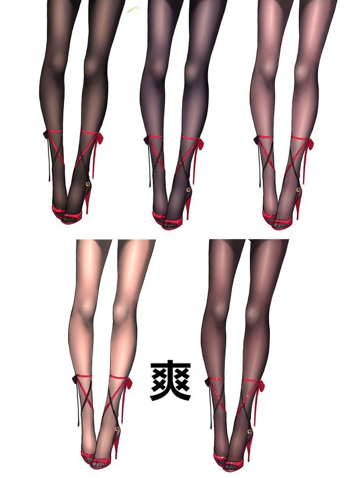 黑<=>白ストッキング簡単描きv0.1(丝袜江化) [5]
