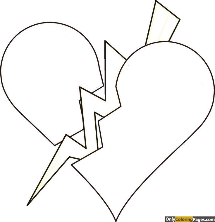 broken heart broken heart coloring pages for teenagers only coloring pages - Rose Coloring Pages Teenagers