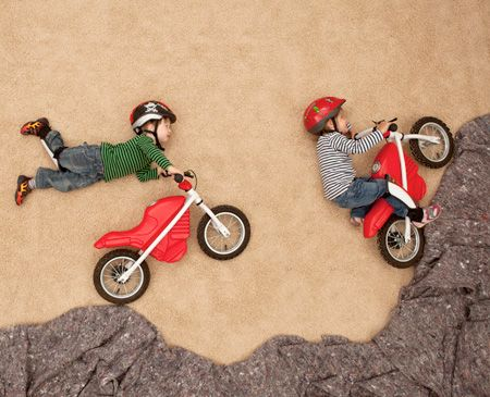 Dreams of Flying - Creative photo series by German photographer Jan von Holleben features reenactments of adventurous dreams of kids and adults.