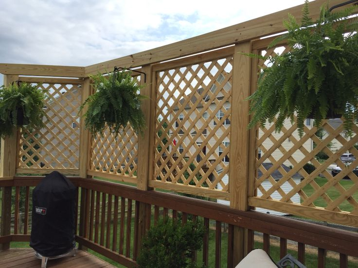 Lattice privacy wall deck ideas pinterest walls for Deck privacy ideas lattice