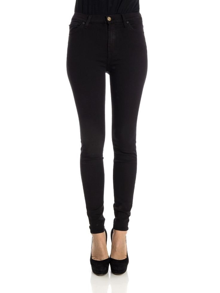7 For All Mankind - Slim Illusion jeans - super skinny jeans - high waist jeans - black jeans - ZO et LO