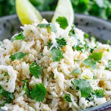 Cilantro Lime  Rice – (Chipotle Style)  or as an alternate: http://www.food.com/recipe/cilantro-lime-rice-157068