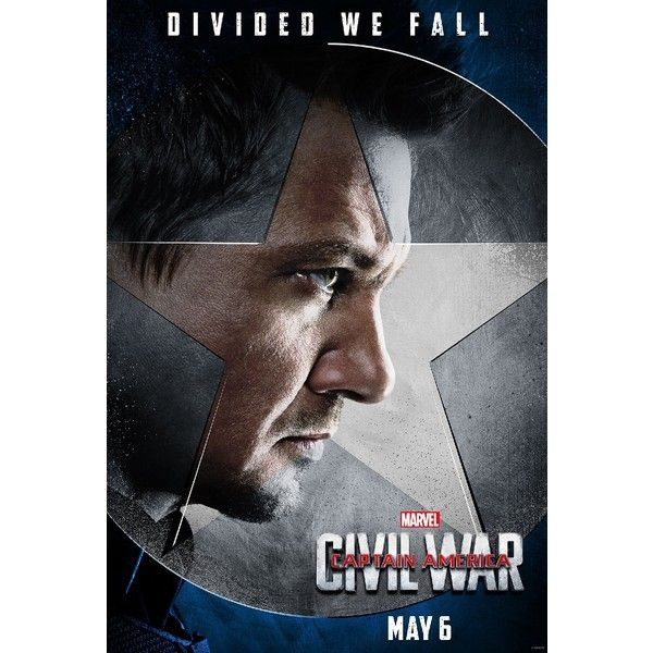 Civil War character posters ❤ liked on Polyvore featuring home, home decor, wall art, captain america poster and civil war posters