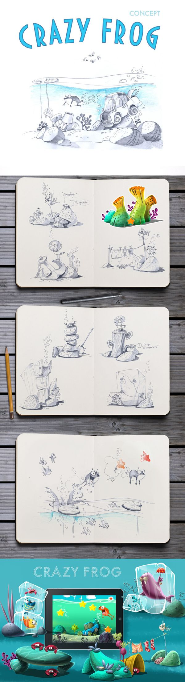 Crazy Frog: Concept by Just Games, via Behance