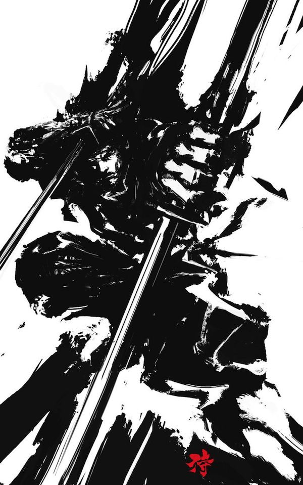 AWWWSOM Japanese-Inspired Illustrations Of Samurai Warriors - http://derylbraun.deviantart.com/