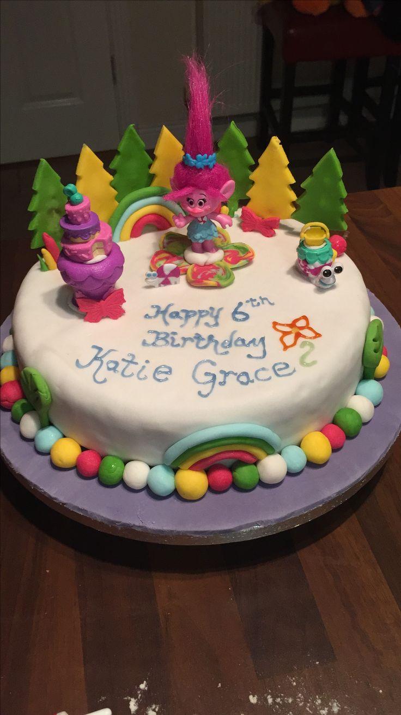 Poppy Trolls Birthday Cake