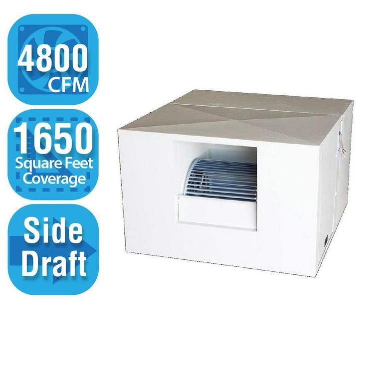 4,800 CFM Side-Draft Rigid Roof/Side Evaporative Cooler for 18 in. Ducts 1,650 sq. ft. (Motor Not Included), White
