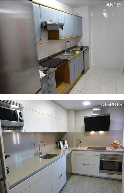 Antes y después de cocina pequeña