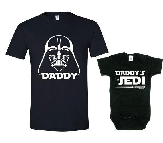 Father Son Shirt Sets Daddy's Lil Jedi Star Wars by TexasTeesPlus