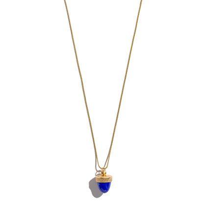 Acorn Locket Necklace in Enamel,  Madewell