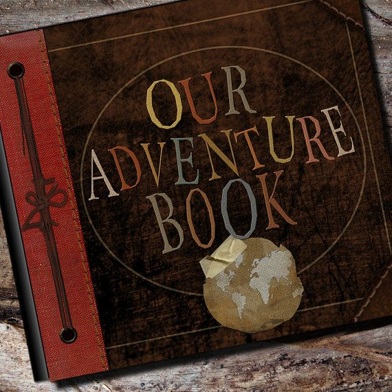 "Our Adventure Book by AlbumOptions: The exact same album that was created for the ""real production crew"" for the movie Up!  #Album #Adventure_Book #Up"