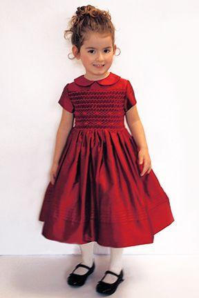 2c943c41b Classic Smocked Girls Holiday Dress