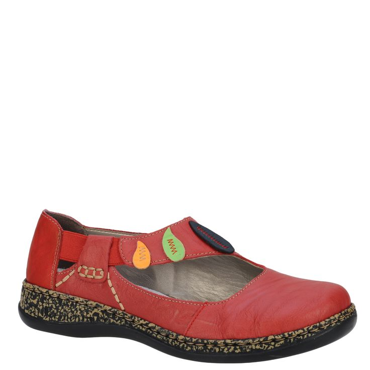 Pantofi casual dama Rieker rosu