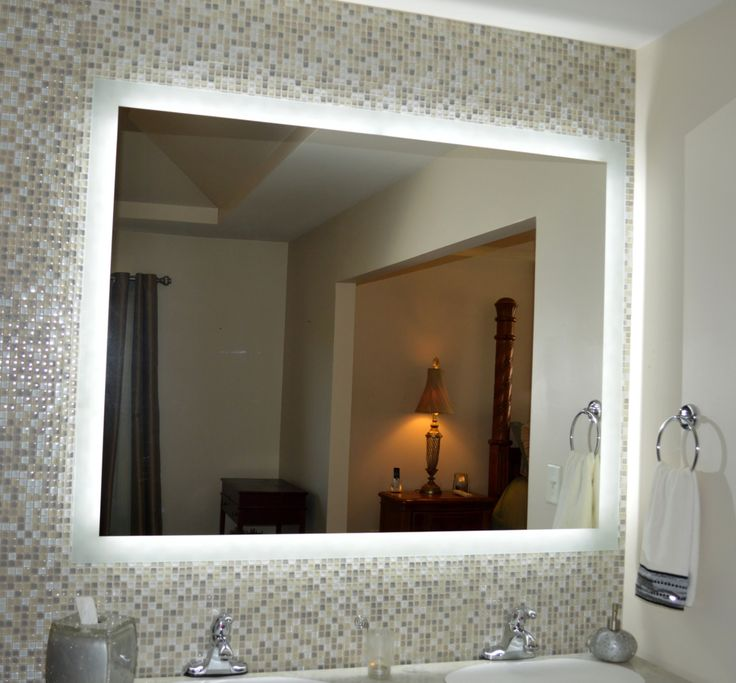 Wide By Tall Side Lighted Mirror Pictured With A Vanity Back Mirrors Are Being Used Throughout The World In Some Of Most Prestigious