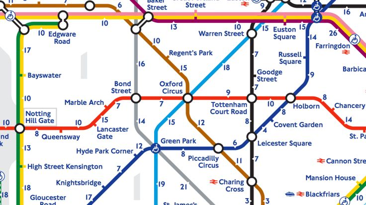 The London transport manager has created a 'Walk the Tube' map, which shows how long it takes to totter between stations.