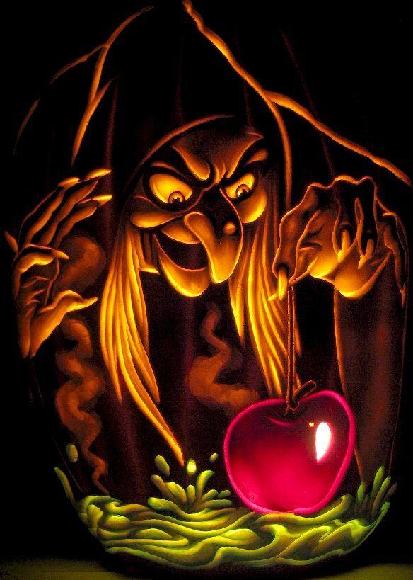 Snow Witch Pumpkin Carving by Dan Szczepanski