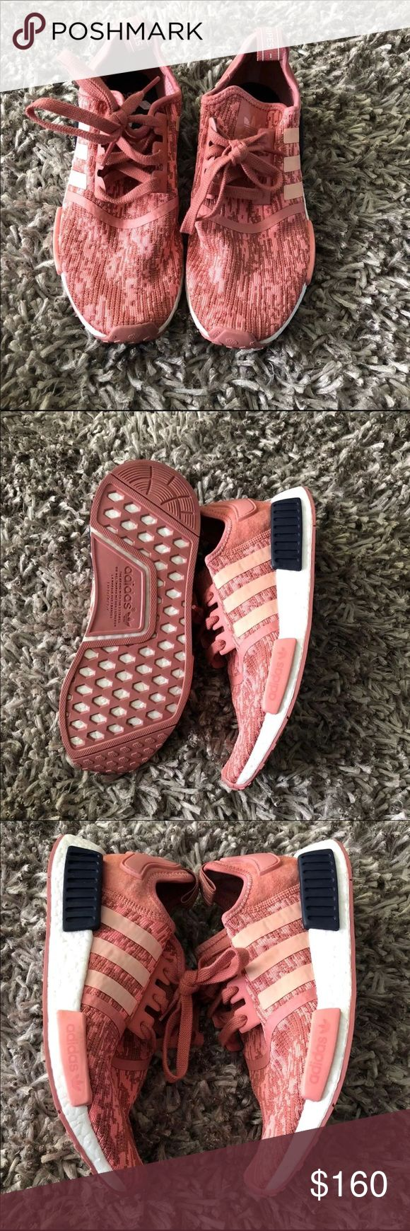Adidas NMD raw pink Only worn twice! Original box included SOLD OUT ONLINE women's size 8 adidas Shoes Athletic Shoes