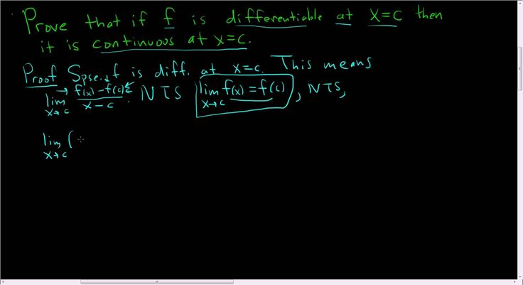 Proof that every Differentiable Function is Continuous