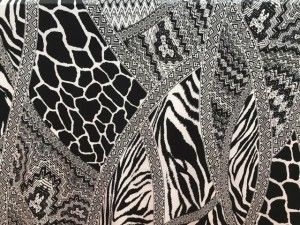 Tessuto maglina black&withe