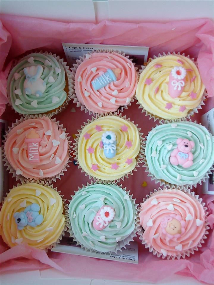 bing girl baby shower ideas cupcakes pinterest