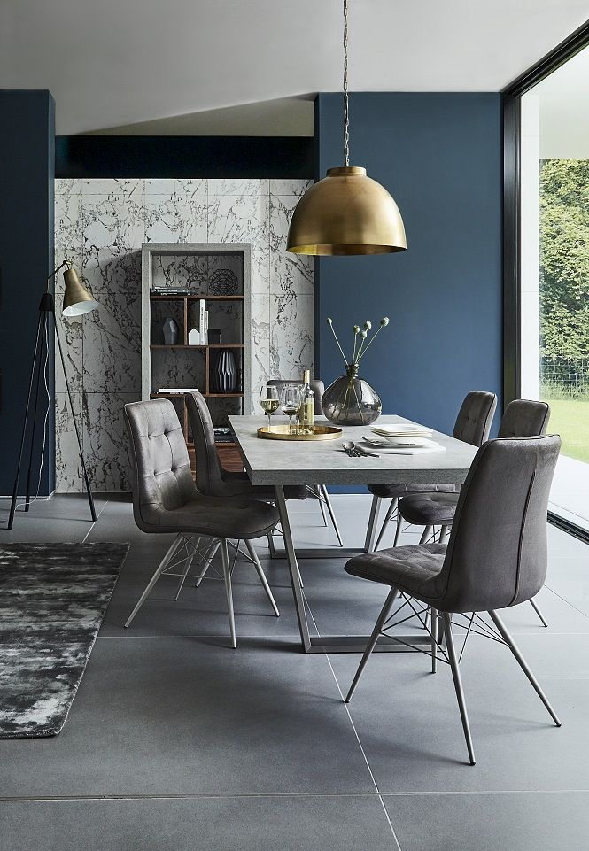 Get a modern, minimalist look in your dining room with the contemporary Halmstad Dining Table. https://emfurn.com/collections/home-chairs