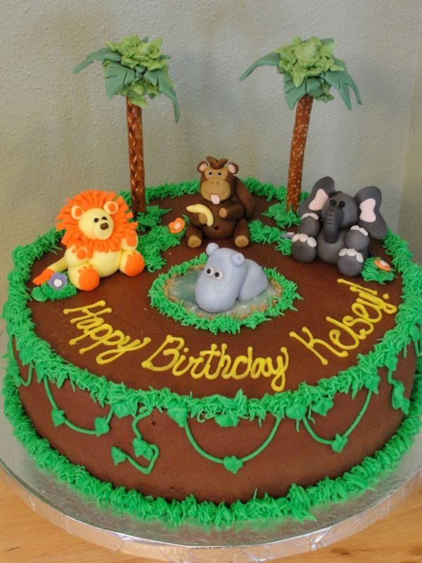 Monkey Cake Design Easy : 25+ best ideas about Jungle theme cakes on Pinterest ...
