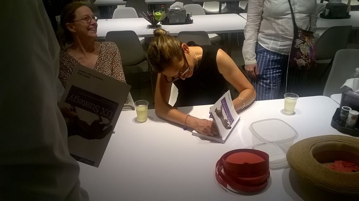 Jaime signing books with her best friend Jane Dowling collecting the dough!