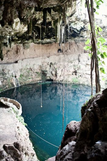 Blue Caves in Cenote Zaci in Valladolid | photography by http://www.brookelynphotography.com/