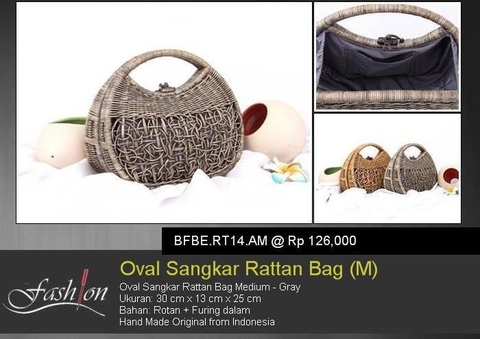 Oval Sangkar Rattan Bag (M)