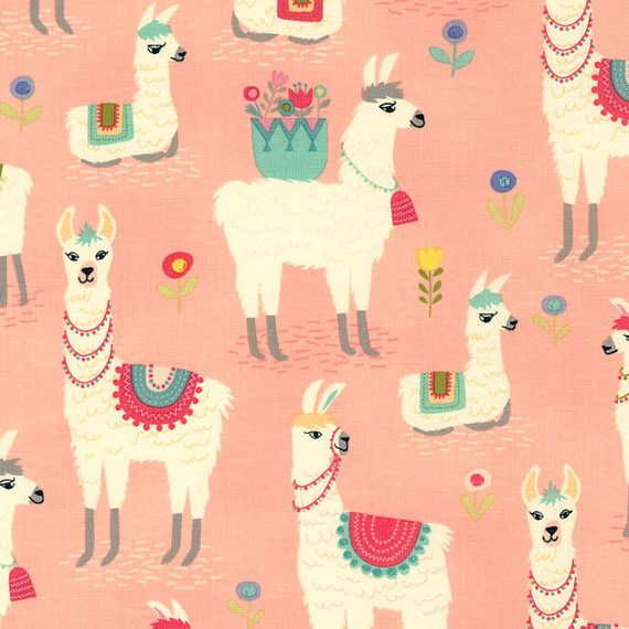 Pink Alpaca Fabric-Alpaca Adventures-Timeless Treasures-Llama Fabric-Alpaca Nursery Fabric-Alpaca Quilt Fabric-Llama Nursery Fabric-Quilting