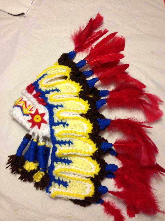 Thanksgiving Native American inspited headdress   hat perfect newborn photo  prop  5bb53ac84de