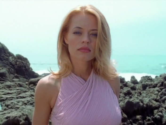 Jeri Ryan as Seven of Nine in the episode Equinox of Star Trek: Voyager! a GREAT episode!