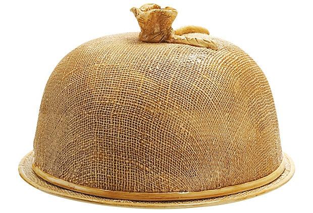 Jute Cake Dome With Plate on OneKingsLane.com