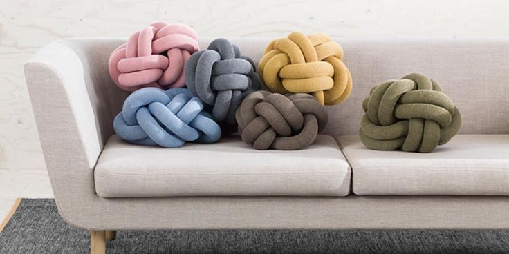 Pinterest is currently obsessed with these plush knot pillows  - housebeautiful.co.uk