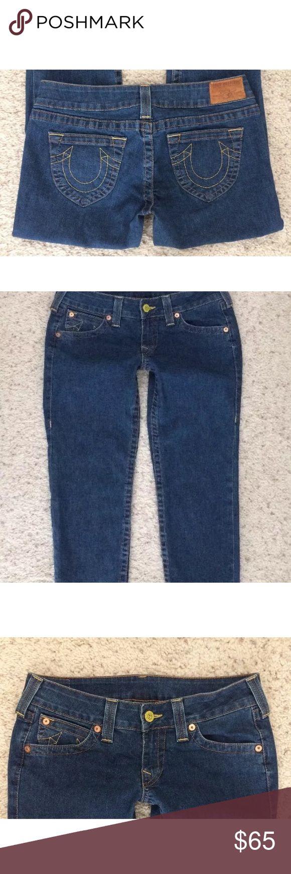"True religion women's cropped jeans Sz 30 W 31"" Brand: True religion  Size: 30 Actual waist: 31"" Rise: 7"" Condition: great! True Religion Jeans Ankle & Cropped"