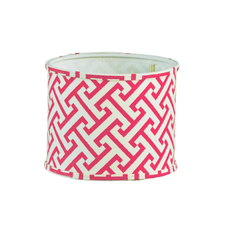 """5"""" Chippendale Drum Chandelier Shade in Fuchsia Pink, chartreuse, Navy, Gray or Black & white!"""