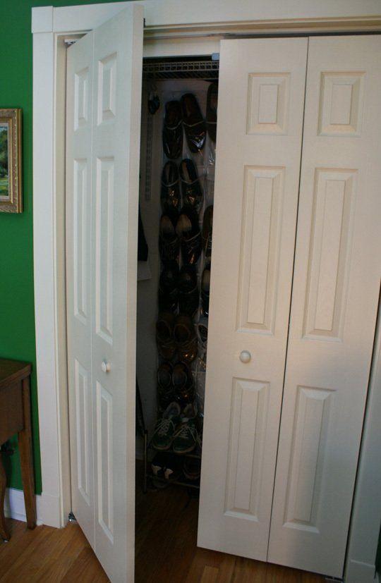 converting a bi fold door bi fold doors closet hacks. Black Bedroom Furniture Sets. Home Design Ideas