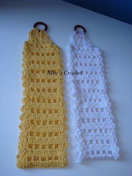 Porta papel para 2 rolos, feito me barbante.  Disponível nas cores branco e amarelo.  Pode ser feito em outras cores consulte.
