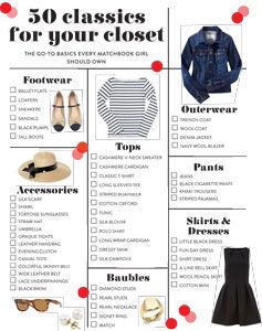50 classics for your closet
