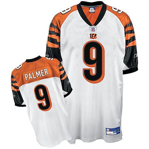 Reebok Cincinnati Bengals Carson Palmer 9 White Authentic Jerseys Sale