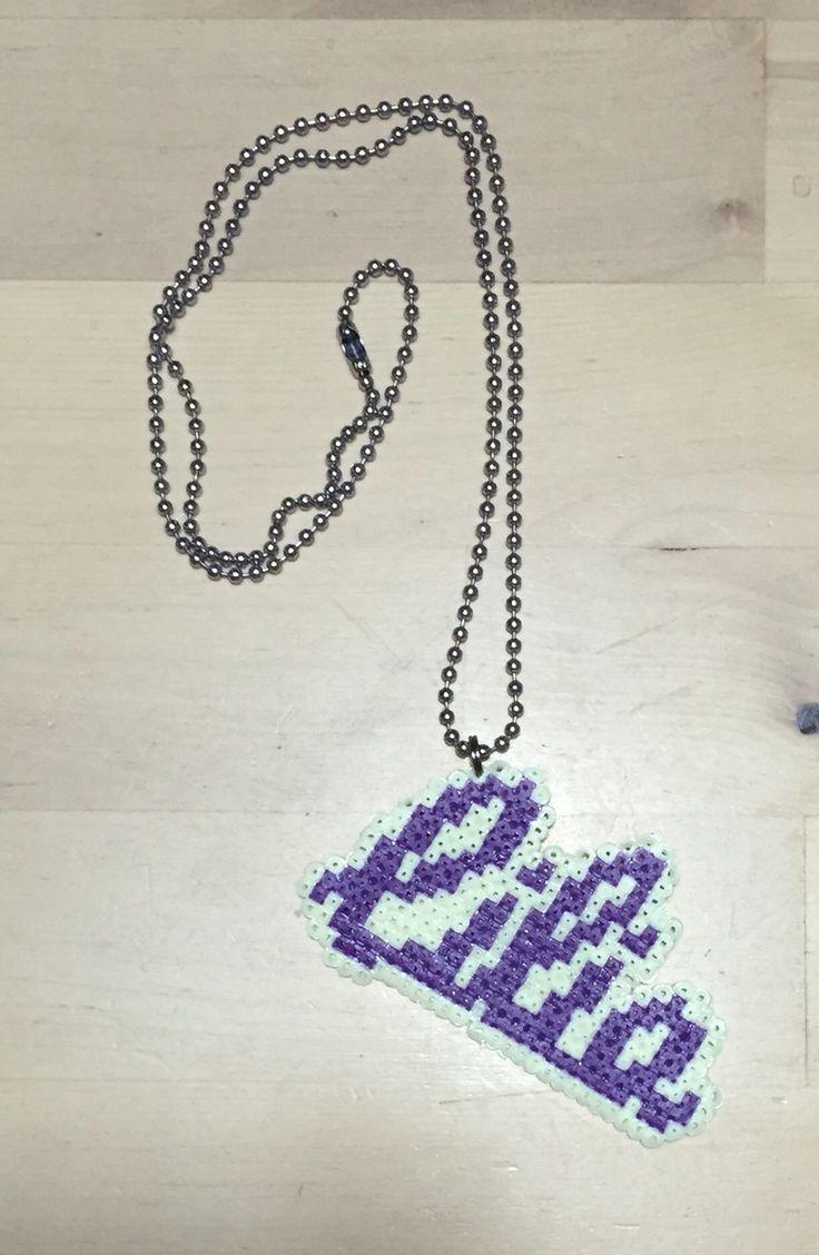 Hama beads name necklace