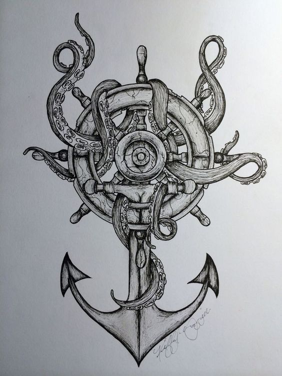 Octopus And Anchor Drawing Tumblr octopus & anchor idea- would be incorporated with nautical: