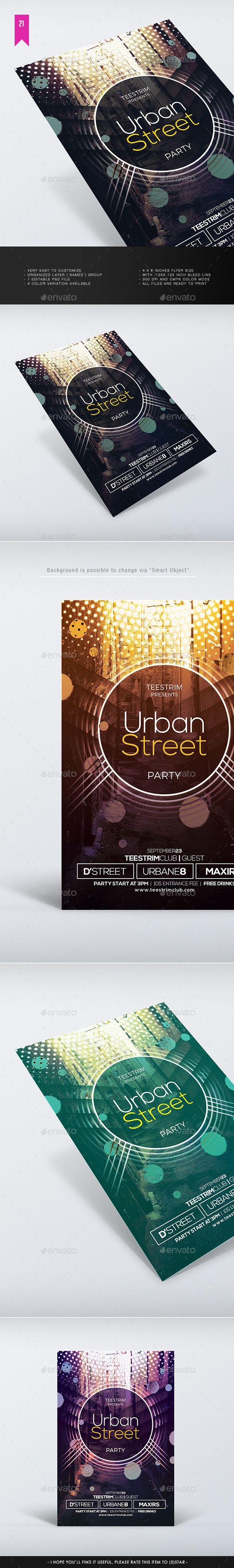 Urban Street Flyer Template #design Download: http://graphicriver.net/item/urban-street-flyer-template/12416762?ref=ksioks